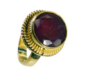 Riyo Indi Ruby Gold Plated Sets Posie Ring Sz 6.5 Gpriru6.5-34052