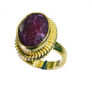 Riyo Indi Ruby 18c Gold Plated Toe Ring Jewelry Sz 7 Gpriru7-34067