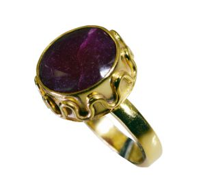 Riyo Indi Ruby 18c Gold Polish Nice Ring Sz 7 Gpriru7-34074