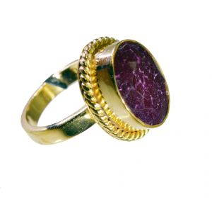 Riyo Indi Ruby 18 Kt Gold Fashion Posie Ring Sz 7.5 Gpriru7.5-34085