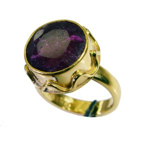 Riyo Indi Ruby 18kt Gold Plating Thumb Ring Sz 7.5 Gpriru7.5-34091