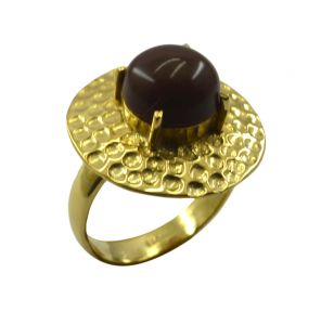 Riyo Jasper 18kt Gold Plated Gunmetal Ring Gprjas80-40016