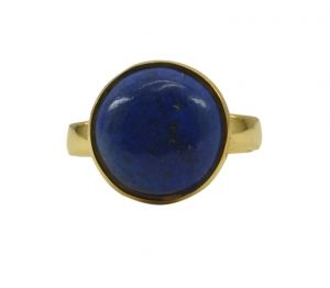 Riyo Blue Lapis Lazuli 18kt Gold Plated Flawless Ring Gprlla65-44099