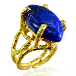 Riyo Lapis Lazuli Gold Plated Sets Toe Ring Jewelry Sz 7 Gprlla7-44010