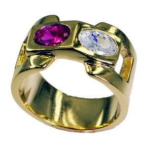 Riyo Cz 18k Gold Plating Mori Ring Sz 7.5 Gprmucz7.5-116007