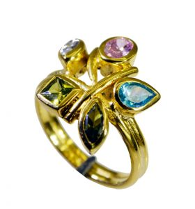 Riyo Cz Gold Plated Jewelry Nice Ring Sz 8 Gprmucz8-116044