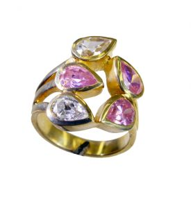 Riyo Cz Gold Plated India Claddagh Ring Sz 8 Gprmucz8-116046