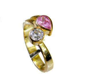 Riyo Cz 18k Gold Plated Bridal Rings Sz 8.5 Gprmucz8.5-116038