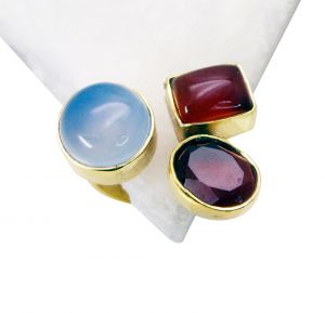Riyo Red Onyx 18k Gold Plated Beautiful Ring Sz 7 Gprmul7-52066