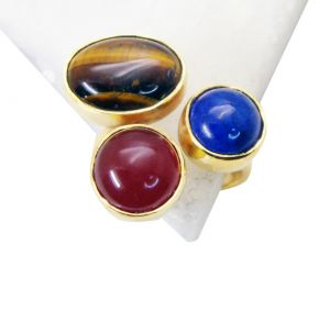 Riyo Tiger Eye Jewellery Gold Plated Toe Ring Jewelry Sz 8 Gprmul8-53013