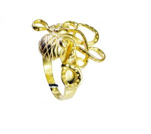 Riyo A Plain 18kt Gold Plated Octopus Ring Gproct50-250001