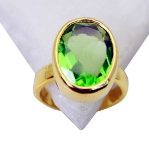 Riyo Peridot Cz 18 C Gold Plated Toe Ring Jewelry Sz 7 Gprpecz7-100007