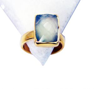 Riyo Prehnite 18kt Gold Plating Toe Ring Jewelry Sz 5 Gprpre5-60003