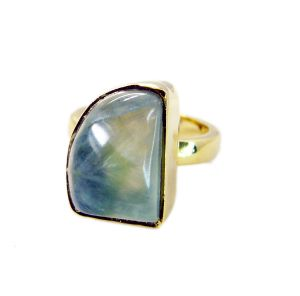 Riyo Prehnite 18kt Gold Plated Beautiful Ring Sz 6 Gprpre6-60009