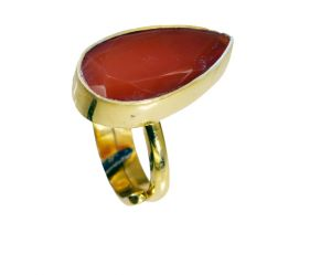 Riyo Red Onyx 18c Gold Polish Purity Ring Jewelry Sz 5 Gprron5-66048