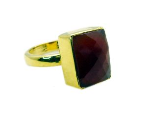Riyo Red Onyx Gold Plated Jewellery Mori Ring Sz 7 Gprron7-66014