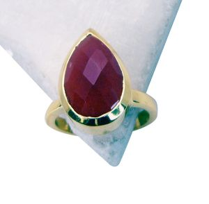 Riyo Red Onyx Gold Plated Wholesale Class Ring Sz 7 Gprron7-66021