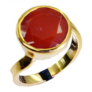 Riyo Red Onyx 18k Y.g. Plated Posie Ring Sz 7 Gprron7-66035