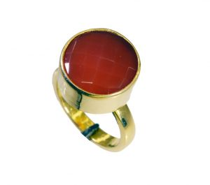 Riyo Red Onyx Rhodium Plate Eternity Ring Sz 7 Gprron7-66045