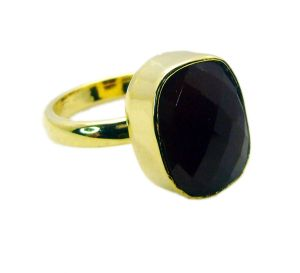 Riyo Red Onyx 18c Y Gold Plated Guard Ring Sz 9 Gprron9-66031