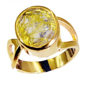 Riyo Rutiled Quartz Cz Buy Gold Plated Jewelry Ring Sz 6 Gprrqcz6-106003