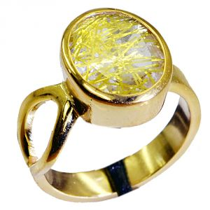 Riyo Rutiled Quartz Cz Gold Plated Costume Bridal Rings Sz 7 Gprrqcz7-106005