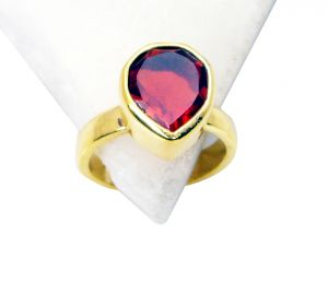 Riyo Ruby Cz Plated Gold Jewelry Gimmal Ring Sz 6 Gprrucz6-104008