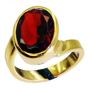 Riyo Ruby Cz Fine Gold Plated Eternity Ring Sz 6 Gprrucz6-104024