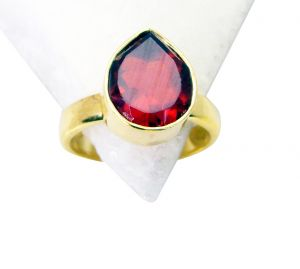 Riyo Ruby Cz Gold Plated Jewellery Posie Ring Sz 7 Gprrucz7-104013