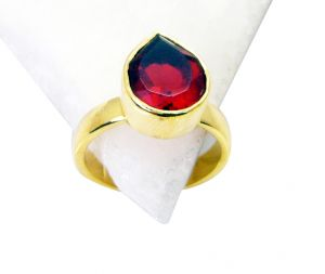 Riyo Ruby Cz Gold Plated India Rosary Ring Jewelry Sz 7 Gprrucz7-104015