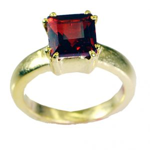 Riyo Ruby Cz 18k Y.g. Plated Toe Ring Jewelry Sz 7 Gprrucz7-104029