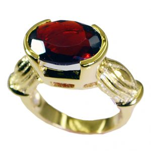 Riyo Ruby Cz 18.kt Gold Plated Mori Ring Sz 7 Gprrucz7-104032