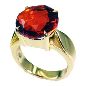 Riyo Ruby Cz 18c Gold Plated Ring Sz 7.5 Gprrucz7.5-104035