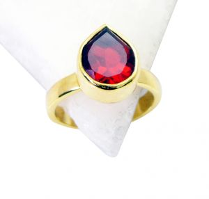 Riyo Ruby Cz Gold Plated Sets Thumb Ring Sz 8 Gprrucz8-104020