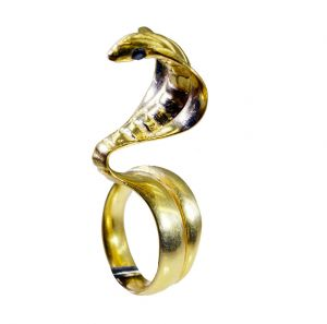 Riyo Gemstone 18kt Gold Plated Snake Ring Gprsna75-290022
