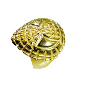 Riyo A Plain 18kt Gold Plated Spider Ring Gprspi80-300003
