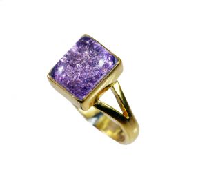 Riyo Sunstone 18kt Y Gold Plating Signet Ring Jewelry Sz 6 Gprsun6-78030