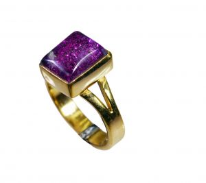 Riyo Sunstone 18.kt Y Gold Plating Friendship Ring Sz 6.5 Gprsun6.5-78023