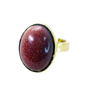 Riyo Sunstone 18-kt Y Gold Plating Birthstones Ring Sz 7 Gprsun7-78003