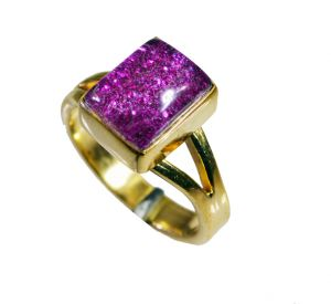 Riyo Sunstone 18kt Gold Plating Ecclesiastical Ring Sz 7 Gprsun7-78021