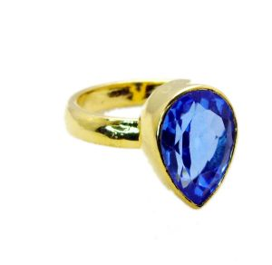 Riyo Tanzanite Cz Gold Plate Beautiful Ring Sz 6 Gprtacz6-108003