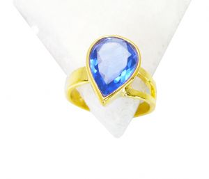 Riyo Tanzanite Cz Gold Plated Jewelry Ring Sz 6 Gprtacz6-108006