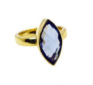 Riyo Tanzanite Cz Wholesale Gold Plated Nice Ring Sz 7 Gprtacz7-108007