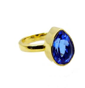 Riyo Tanzanite Cz Indian Gold Plate Claddagh Ring Sz 7 Gprtacz7-108011