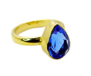 Riyo Tanzanite Cz Gold Plated Jewellery Gimmal Ring Sz 9 Gprtacz9-108020