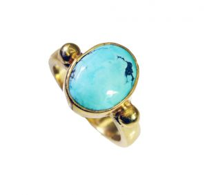 Riyo Turquoise 18c Gold Plated Bridal Rings Sz 5 Gprtur5-82097