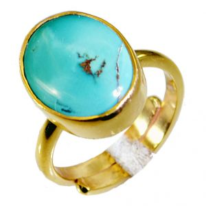 Riyo Turquoise 18 C Gold Plated Claddagh Ring Sz 6.5 Gprtur6.5-82039