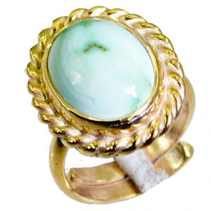 Riyo Turquoise 18kt Y Gold Plating Engagement Ring Sz 6.5 Gprtur6.5-82043