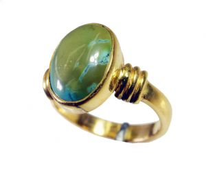 Riyo Turquoise 18 C Gold Plating Guard Ring Sz 7 Gprtur7-82145