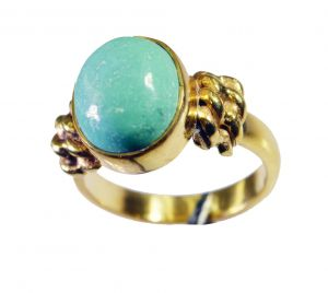 Riyo Turquoise 18c Gold Plated Mothers Ring Sz 7 Gprtur7-82146